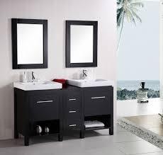bathroom place vanity contemporary:  inch transitional double vessel sink vanity espresso finish set
