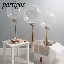 <b>100pcs</b>/<b>lot</b> 10/18/<b>24 inch</b> Transparent Bubble Balloons PVC Super ...