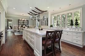 kitchen design wooden island stainless