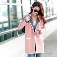 2019 Women's New Woolen Coat Spring <b>Autumn Large Size</b> 4XL ...