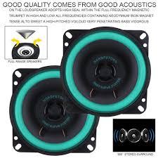 <b>2pcs 4 Inch 40W</b> Car Coaxial HiFi Speaker Vehicle Door Auto Audio ...