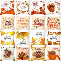 Fashion Christmas <b>Sunflower</b> Pumpkin <b>Printed</b> Cushion Cover Fall ...