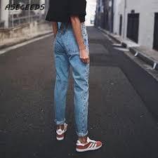 Новые <b>узкие брюки</b> карандаш винтажные <b>джинсы</b> с высокой ...