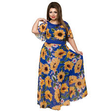 <b>6XL</b> Sunflower Women Party Dress <b>Plus Size</b> Women Clothing ...