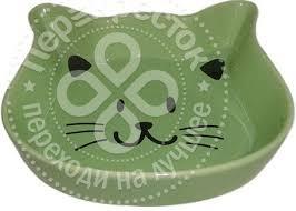 Купить <b>Миска для животных Foxie</b> Kitty зеленая керамическая ...