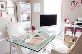home office bonnie bakhtiari39s pink and chic home office office tour sayeh throughout girly home chic home office interior