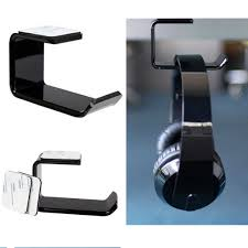 1PC Portable Sticker <b>Acrylic Headphone Bracket</b> Hanger Under ...