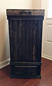 kitchen cart hideaway trash holder