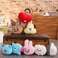 Stuff Toy <b>Cartoon Fashion</b> BT21 <b>Doll</b> Pillow <b>Doll</b> (30-40cm) BTS ...
