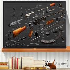 AK47 RPG Pistol <b>Russian Weapon</b> Chart <b>Canvas</b> Prints Modern ...