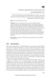 (PDF) Alkaline desalination techniques for <b>archaeological iron</b>