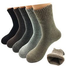 <b>5 Pairs</b>/<b>Lot</b> Thick Wool Socks Men Winter Cashmere Breathable ...