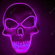 <b>LED Neon Fashion Halloween</b> Party Luminous Mask Purple Novelty ...