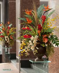 tropical paradisebrsilk flower arrangement artificial plants for office decor