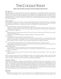 examples of a college essay template examples of a college essay