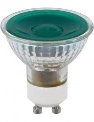 <b>LED</b> GU10 <b>MR16 Glass</b> 50x54 230V <b>5W</b> 38° AC Green Dim ...