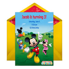 mickey mouse clubhouse party online invitation disney family