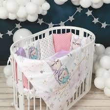 <b>Комплект</b> в кроватку <b>Happy Family Studio</b> Совы (7 предметов ...