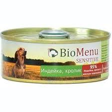 <b>Biomenu Sensitive Консервы</b> для Собак <b>Индейка</b>/Кролик 95%-Мясо