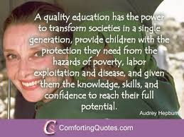 Audrey Hepburn Quotes on Education - Picture Quote ...