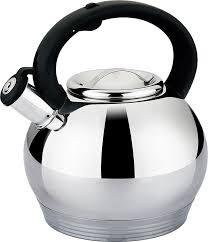 <b>Чайник Agness</b>, со свистком, 937-808, серебристый, <b>3 л</b> — купить ...