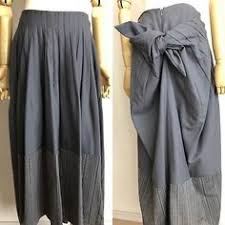 Calvin Klein Silver Classic Tailored sexy Skirt Silk/wool Size 2 (8 ...