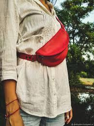 Поясная <b>сумка</b> из кожи красная | Кожа, Кожаные <b>сумки</b>