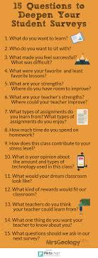 questions to deepen your student surveys 15 questions to deepen your student surveys infographic from mrsgeology