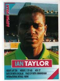 ASTON VILLA - Ian Taylor #27 PANINI Super Players 96 English Premiership Football Sticker - aston-villa-ian-taylor-27-panini-super-players-96-english-premiership-football-sticker-46263-p