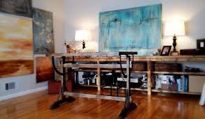 art studio office rustic modern rustic home office art for home office