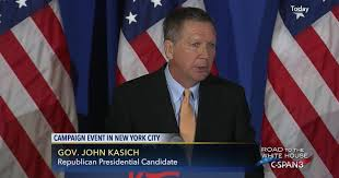 Governor John Kasich Remarks in New York City