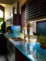 countertops popular options today: view in gallery modern countertops unusual material kitchen glass jpg
