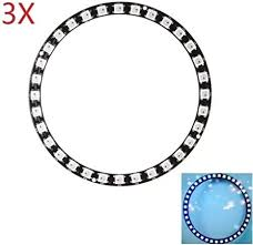 HYY-YY <b>3pcs</b> CJMCU 40-<b>bit WS2812B</b> 5050 RGB LED Built-in Full ...
