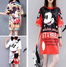 <b>Summer</b> Runway <b>Dress</b> Women <b>2019</b> Half Sleeve <b>Mickey</b> Mouse ...