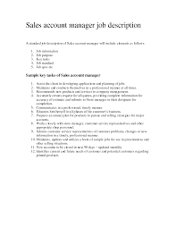 account manager job description for resume com s account manager job description account manager job description for resume