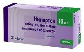 <b>Нипертен</b>, таблетки 10 <b>мг</b>, <b>30</b> шт. - купить, цена и отзывы в ...