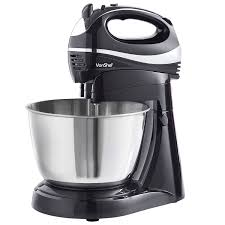 food mixer shop amazon uk vonshef 2 in 1 twin hand and stand mixer black 300w 5 speeds turbo function includes 3 5l bowl 2x beaters 2x dough hooks