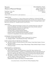 physical therapist assistants resumes   resume template databasephysical therapist assistants resumes templates