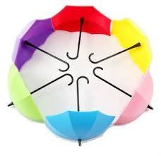 Gade 6pcsumbrella Drop Style Clothes <b>Key</b> Hat Wall Hanger <b>Hooks</b>