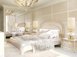 feminine bedroom furniture bed:  feminine gold and white bedroom ideas with large contemporary wardrobe furniture and cream classic
