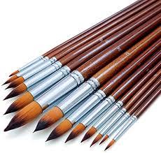 (<b>13pcs</b>) - Artist <b>Round</b> Pointed Tip Detail Paint Brushes Set <b>13pcs</b> ...