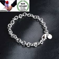 <b>OMHXZJ Wholesale Personality Fashion</b> Man Party Gift Silver Full ...