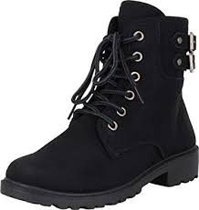Cambridge Select Women's Lace-Up Strappy Buckle ... - Amazon.com