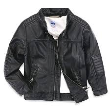 LJYH Boys Leather Jacket <b>New</b> Spring <b>Children's</b> Collar <b>Motorcycle</b> ...