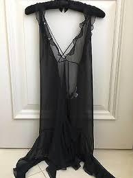 <b>Victoria's Secret</b> Black Sheer <b>Chiffon</b> Camisole Adjustable - size L ...