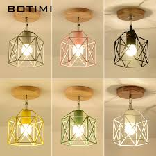 <b>BOTIMI</b> Modern <b>LED Ceiling</b> Lights With <b>Metal</b> Lampshade For ...