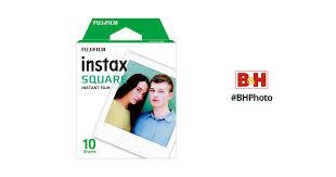 <b>FUJIFILM</b> instax <b>SQUARE</b> Instant <b>Film</b> (10 Exposures) 16549278 B&H