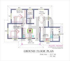 Kerala House Single Floor Plans With Elevations   So Replica    House Plans Kerala Style  middot  oo Square Feet Kerala Veed