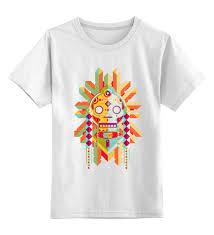 Детская футболка <b>классическая</b> унисекс <b>Printio Indian</b> Skull ...