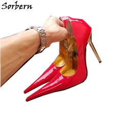 Sorbern Long <b>Pointy Toes Women</b> Pump 12Cm High Heels Shoes ...